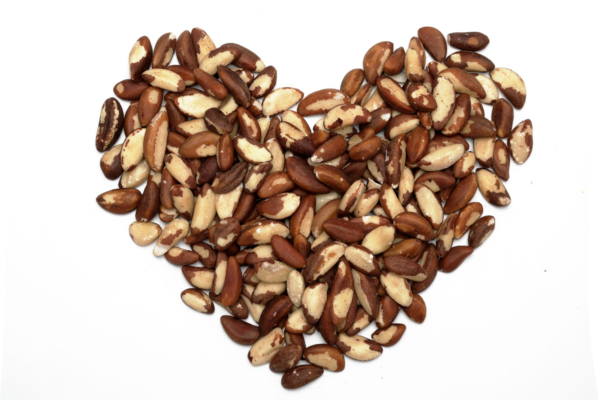 Chandras healthy vegan snack brazil nuts in a heart shape