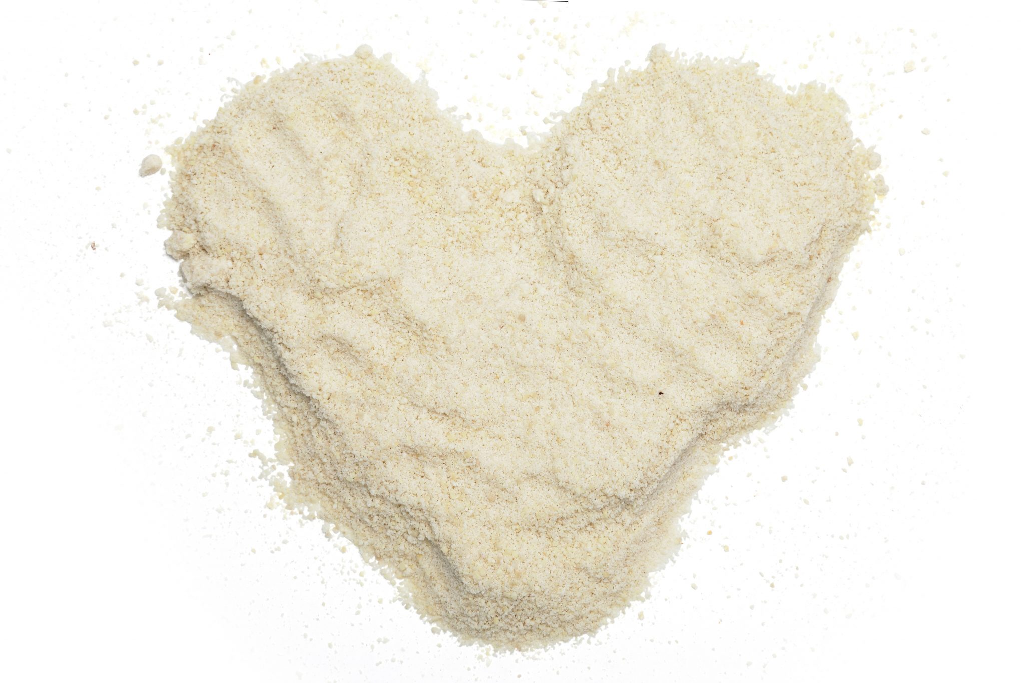 Chandras almond flour in a heart shape