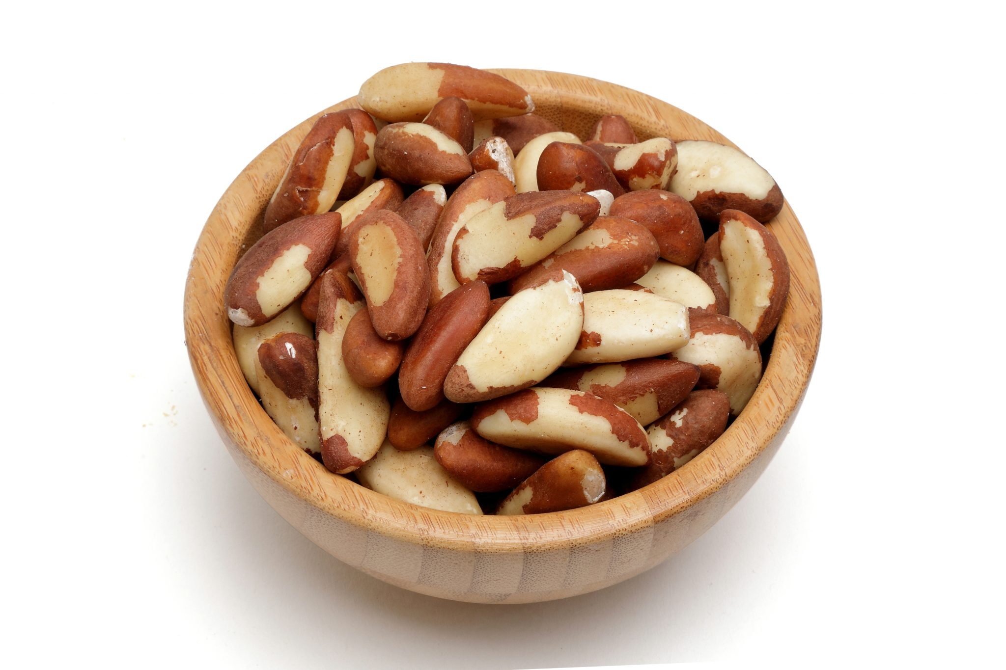 Chandras healthy vegan snack brazil nuts in a bowl
