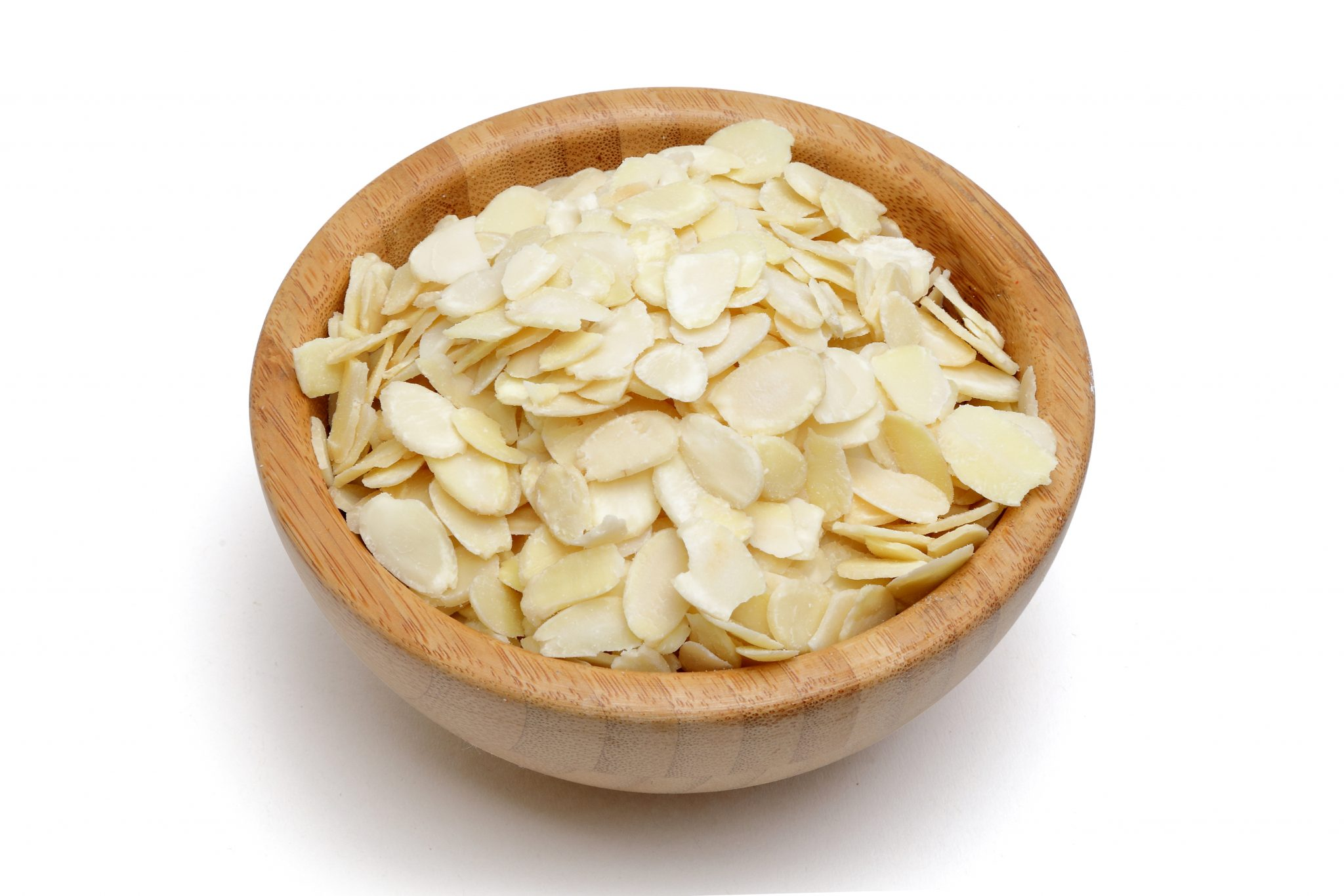 chandras blanched sliced almonds in a bowl
