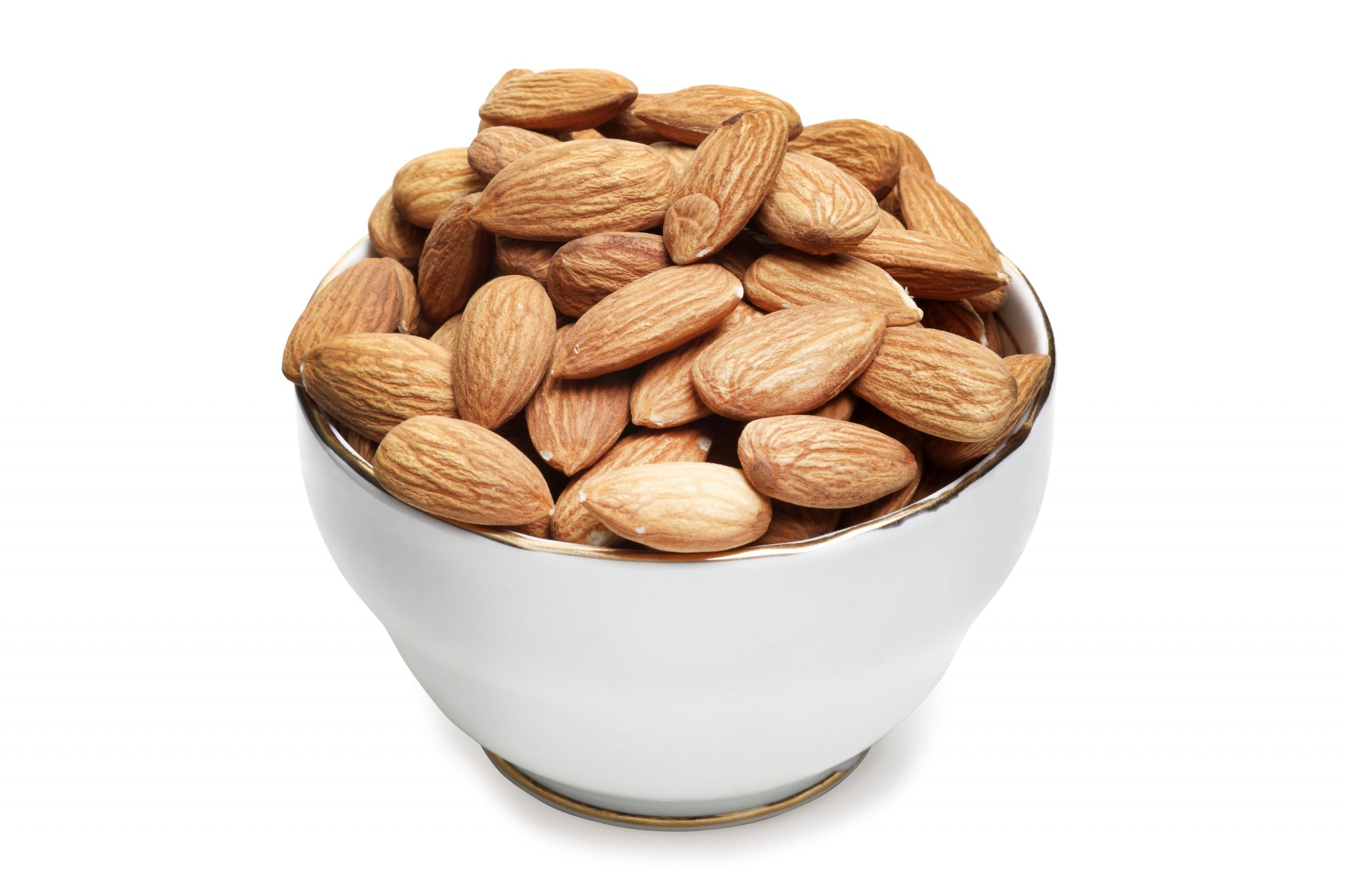 chandras healthy vegan snack almonds in a bowl
