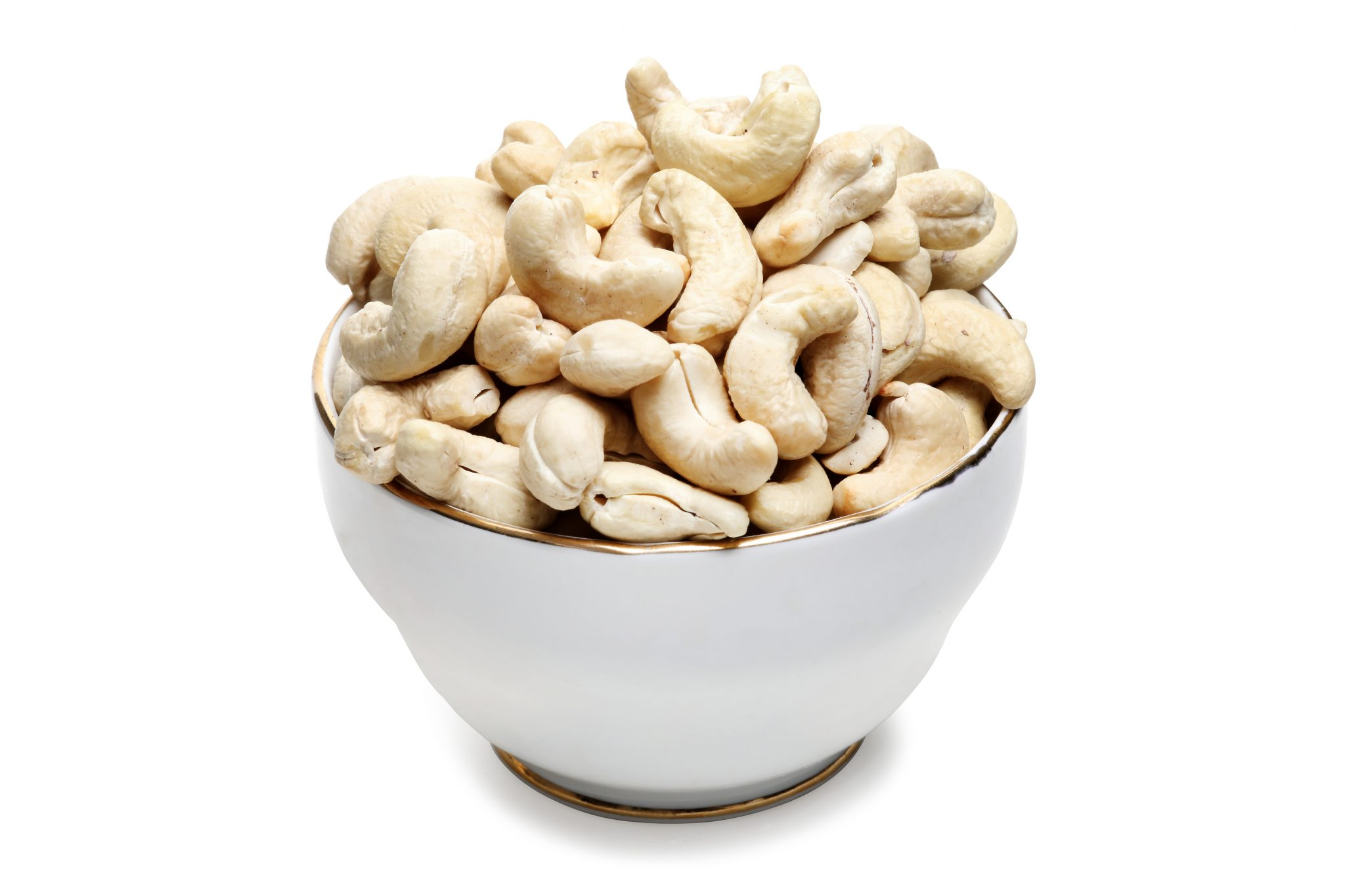 Chandras healthy vegetarian snack cashews in a bowl