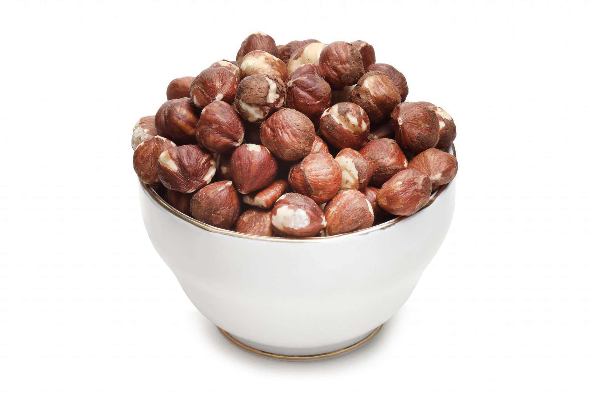 Chandras healthy vegan snack hazelnuts in a glass bowl