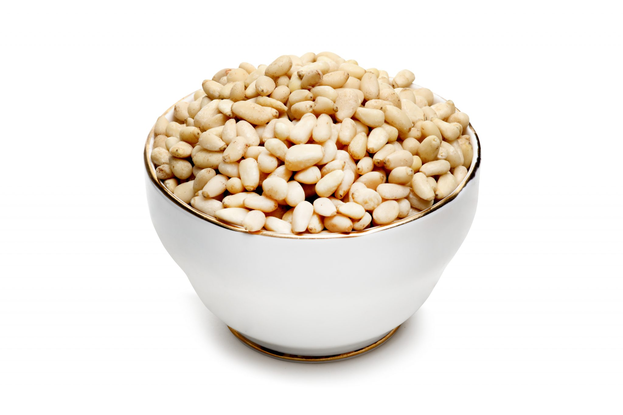 Chandras healthy vegan snack pine nuts in a bowl