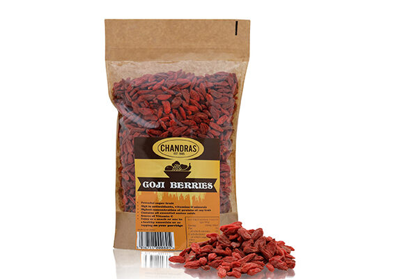 Chandras Goji Berries in a packet
