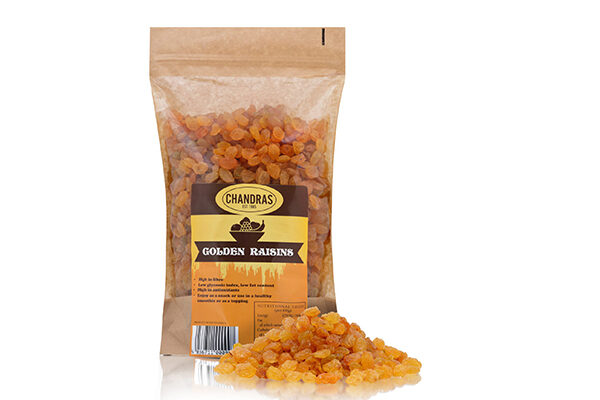 Chandras Golden Raisins in a packet